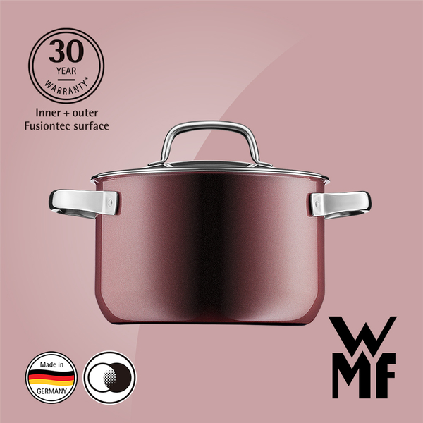 德國WMF Fusiontec 高身湯鍋 20cm 3.7L (赭紅色)