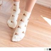 《ZB0577》韓國製質感貓咪印花短筒襪 OrangeBear