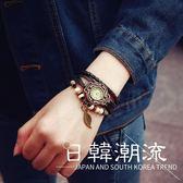 手錶 手鏈手表女學生韓版纏繞復古時尚潮流韓國女生編織表帶裝飾石英表