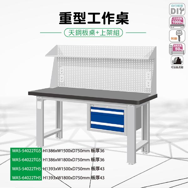 天鋼 WAS-54022TG5《重量型工作桌-天鋼板工作桌》上架組(吊櫃型) 天鋼板 W1500 修理廠 工作室 工具桌