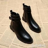 靴子女短靴年新款百搭秋款小跟平底秋冬季女鞋瘦瘦加絨馬丁靴 聖誕節全館免運