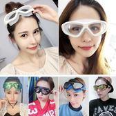 TW電鍍防水防霧 男女士成人專業平光大框電鍍遊泳眼鏡 巴黎春天