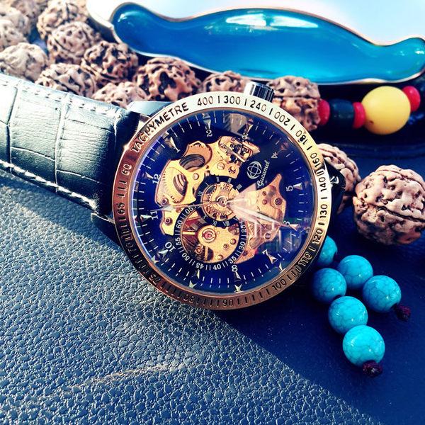 夜光手錶男錶全自動鏤空機械錶男士時尚潮流學生運動錶正韓WY明日恢復原價