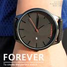 【贈盒】中性對錶 經典簡約時尚 大方錶徑設計 百搭皮帶款 日期框 ☆匠子工坊☆【UK0148】