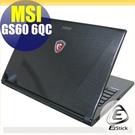 【Ezstick】MSI GS60 6QC 專用 二代透氣機身保護貼(含上蓋、鍵盤週圍)DIY 包膜