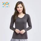 【WIWI】MIT溫灸刷毛V領發熱衣(銀河灰 女S-2XL)