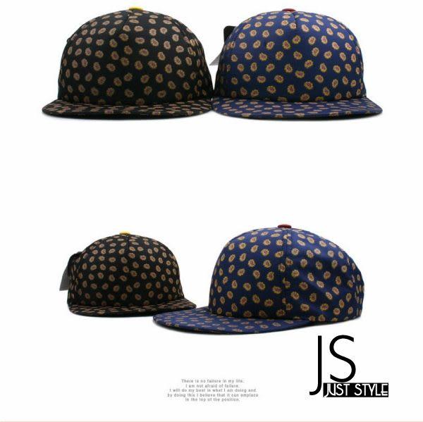 棒球帽【JS精心苑】韓國明星花點平翻街舞嘻哈棒球帽子/配件/飾品/秋冬帽子
