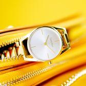 CK / K7L23546 / Dainty 瑞士機芯 鏤空設計 不鏽鋼手錶 銀x鍍金 30mm