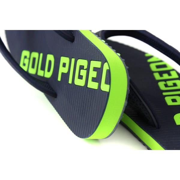 GP (Gold.Pigon) 阿亮代言 夾腳拖鞋 人字拖 雨天 深藍/綠 男鞋 G9034M-20 no024