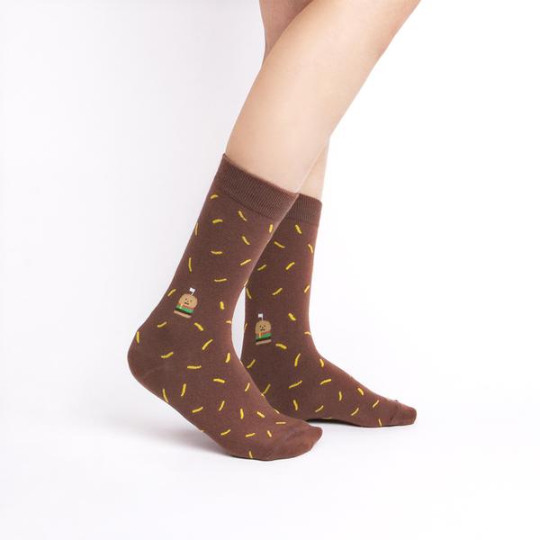韓國 socks appeal X SML 食物系中桶襪 漢堡