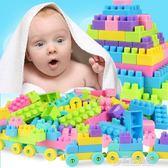 兒童顆粒塑料益智拼裝插積木1-2男女孩寶寶3-6周歲幼兒園玩具   草莓妞妞