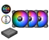 【超人百貨F】曜越 Pure Plus 14 LED RGB 水冷排風扇TT Premium頂級版 (三顆包裝)