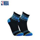 NBA 平版襪 MIT 運動配件 NBA緹花短襪短襪(黑/藍)