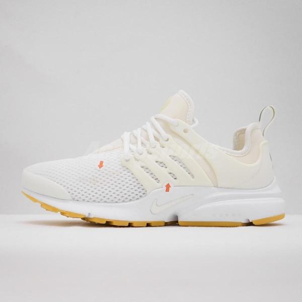 【US7-NG出清】Nike 休閒慢跑鞋 Wmns Air Presto 左腳膠片發黃 白 全白 膠底 魚骨鞋 女鞋【PUMP306】