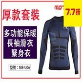 【尋寶趣】  多功能保暖長袖滑衣 緊身衣 快速排汗 彈性透氣 重機/摩托車/賽車保暖內衣 MB-U06