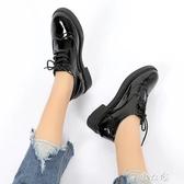 小皮鞋女秋季新款英倫韓版復古百搭單鞋學生女鞋潮牛津鞋紳士鞋 千惠衣屋