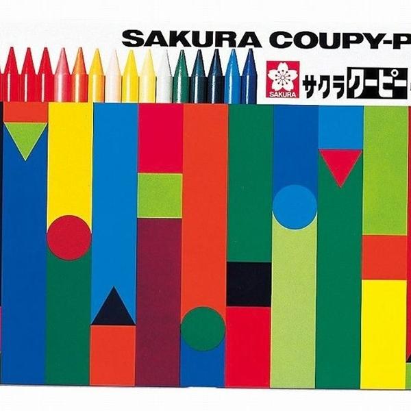 【日本製】【SAKURA】COUPY-PENCIL 不髒手彩色蠟筆 30色(一組:5個) SD-3702 - 日本製