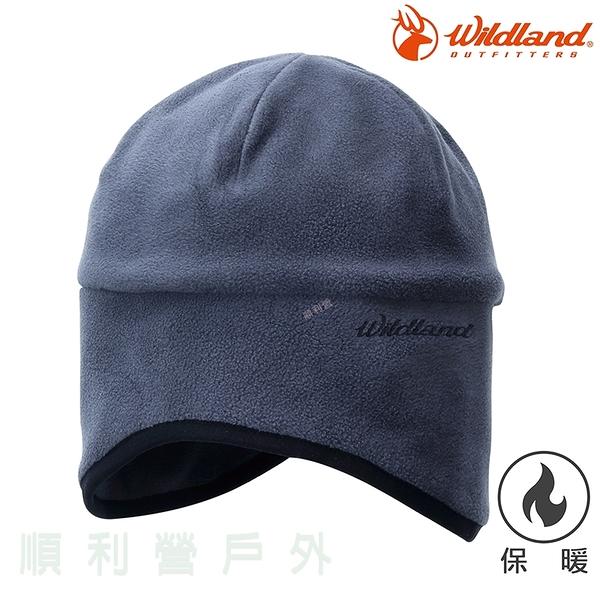 荒野WILDLAND 中性Pile保暖遮耳帽 W2001 鐵灰色 刷毛 保暖帽 刷毛帽 抗風 禦寒 OUTDOOR NICE