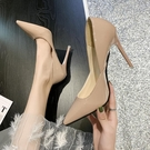 高跟鞋 超高跟鞋女細跟新款職業百搭網紅鞋子潮法式少女性感尖頭漆皮單鞋 伊蘿