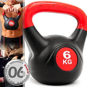 KettleBell重力6公斤壺鈴(13.2磅)6KG壺鈴拉環啞鈴搖擺鈴舉重量訓練運動健身器材推薦專賣店