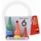【日本製】【AOZORA】Baby Color 幼童用 積木造型色筆(一組:12個) SD-13615-12 - AOZORA