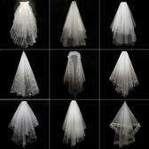 婚紗白色頭紗女新娘短韓式頭紗頭飾超仙