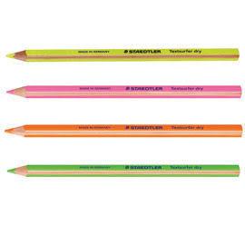 [奇奇文具]【施德樓 STAEDTLER 螢光鉛筆】 施德樓 MS12864 乾式螢光鉛筆/螢光筆  12支/盒 (四色可選)