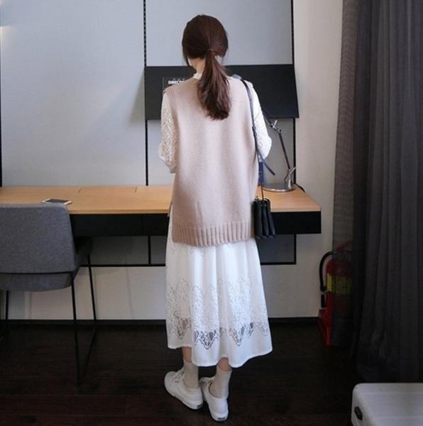 漂亮小媽咪 二件式洋裝 【DS5229】 寬鬆 兩件式 孕婦洋裝 孕婦裝