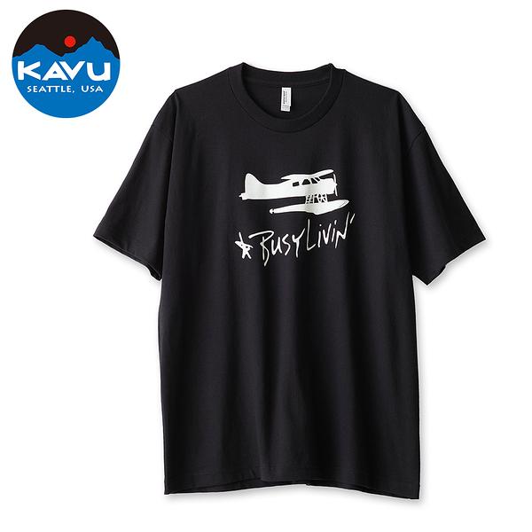 【西雅圖 KAVU】Float Life 棉質T-Shirt 黑 #8091