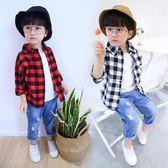男童襯衫兒童襯衣3長袖新款4春季5寶寶童裝格子衫外套6歲潮