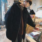 (百貨週年慶)2018新款潮流棉服男士韓版寬鬆大尺碼棉衣冬季加厚中長款面包服