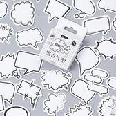 【BlueCat】Bang黑白氣泡盒裝貼紙 封口貼紙 (45入)