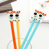 【BlueCat】骨頭項圈大鼻狗造型水性筆 中性筆