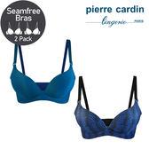 【Pierre Cardin皮爾卡登】雙色系列 B罩 一片式立體美型無鋼圈內衣 (水波藍 & 湖晴藍)-607-62056B