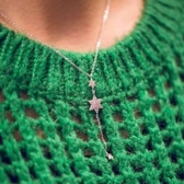 項鍊 925純銀鑲鑽墜飾-時尚星星生日母親節禮物女飾品73gy64【時尚巴黎】