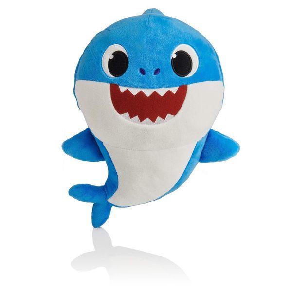 《 Pinkfong 》鯊魚家族發聲絨毛 - FATHER╭★ JOYBUS玩具百貨