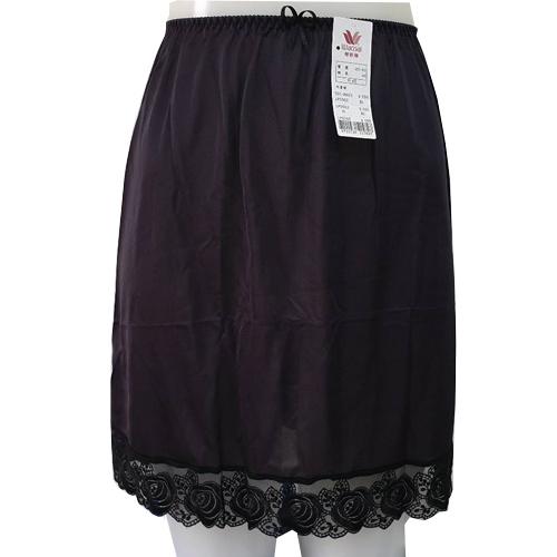 【華歌爾】優維蕾絲襯裙M-LL(黑)