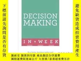 二手書博民逛書店Successful罕見Decision Making in a Week: Teac...-一周內成功的決策:T
