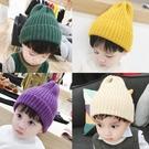 純色簡約兒童針織帽子個性潮豎條尖頂寶寶毛線帽套頭 『洛小仙女鞋』