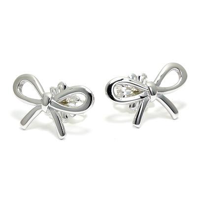 Tiffany & Co. 蝴蝶结純銀迷你耳環