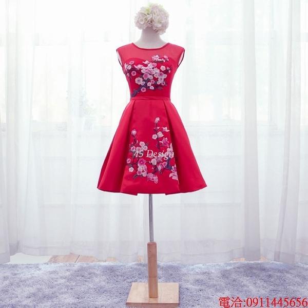 (45 Design)  7天到貨 禮服婚紗晚禮服短款晚宴年會 結婚小禮服短裙 大小顏色款式都能訂製11