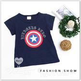 中大童 純棉 超人盾牌標誌短袖上衣 百搭 休閒 星星 字母 美式 圓領 T恤 短T 男大童 哎北比童裝