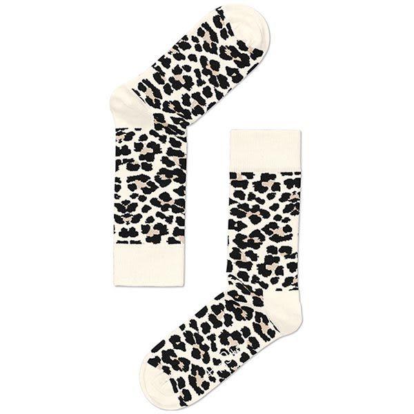 『摩達客』瑞典進口【Happy Socks】豹紋中統襪(60112081002)