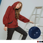 《KS0669》防潑水線條感縮袖抽繩運動連帽外套 OrangeBear