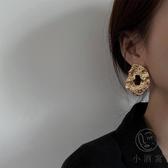 夸張隨性鏤空金屬耳環女氣質耳釘個性耳飾【小酒窝服饰】