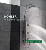 【麗室衛浴】美國 KOHLER WaterTile Tower 多功能淋浴柱背板 K-3872T-CP