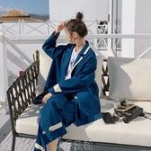 西裝兩件套女英倫風2021年春秋新款休閑時尚長褲套裝韓版小西服潮快速出貨