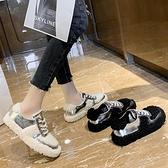 樂福鞋 毛毛鞋女冬外穿2021單鞋百搭樂福鞋加絨平底豆豆鞋羊羔毛棉鞋