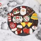 J0106》聖誕節薑餅模9件套 3D立體不銹鋼餅乾模具 烘焙工具 聖誕景餅乾模具