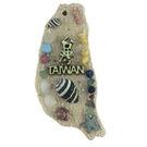 【收藏天地】台灣紀念品*寶島造型夜光冰箱貼-台灣地圖